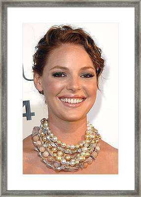 Katherine Heigl Wearing A Joan Hornig Framed Print