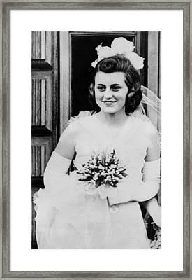 Kathleen Kennedy, In Formal Gown Framed Print by Everett