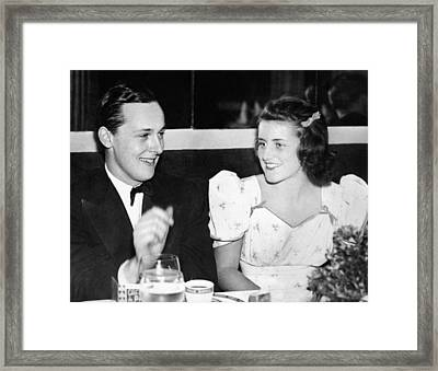 Kathleen Kennedy, With Lord Hartington Framed Print by Everett