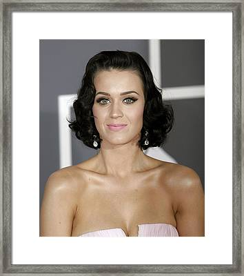 Katy Perry At Arrivals For Arrivals - Framed Print