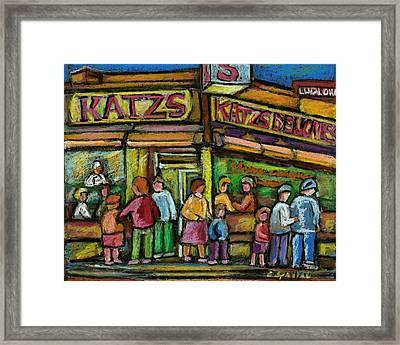 Katz's Houston Street Deli Framed Print by Carole Spandau
