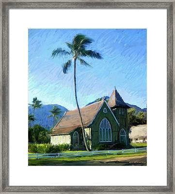 Kauai Church  Framed Print by RG McMahon