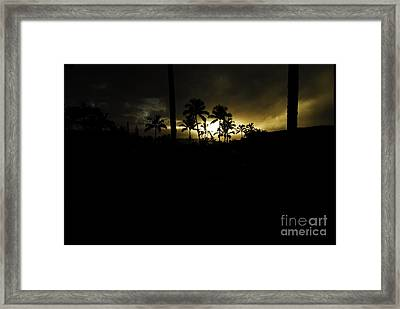 Kauai Storm Sunset Framed Print