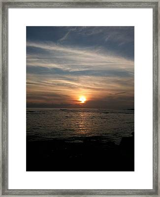 Framed Print featuring the photograph Kauai Sunset by Carol Sweetwood