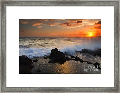 Kauai Sunset Explosion Framed Print