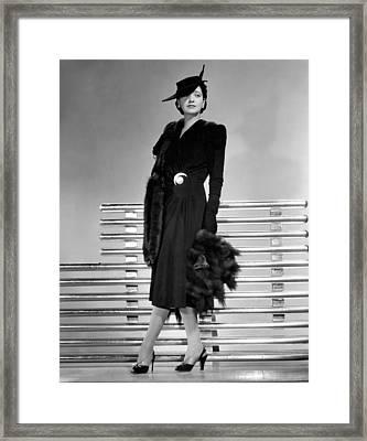 Kay Francis, 1941 Framed Print by Everett