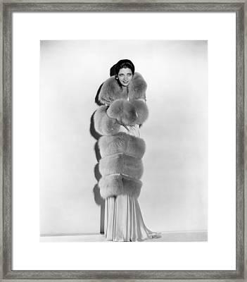 Kay Francis, Circa 1930s Framed Print by Everett