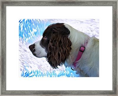 Kaya Paint Filter Framed Print by Steve Harrington