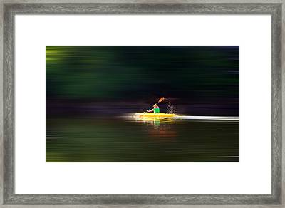 Kayak Ks Framed Print