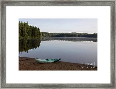 Kayak On Pog Lake Framed Print by Chris Hill