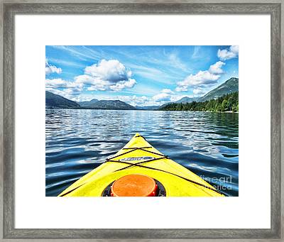 Kayaking In Bc Framed Print