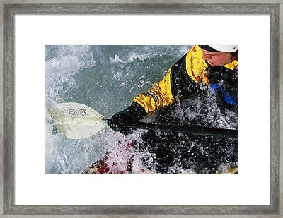 Kayaking The Iron Curtain Class V Framed Print by Bobby Model