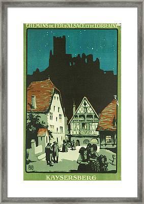 Kaysersberg Alsace Framed Print