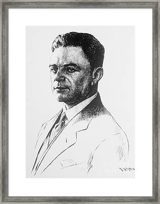 Kazimierz Funk, Polish-american Framed Print by Science Source