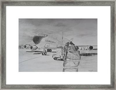 Kc-135 Study Framed Print by Brian Hustead