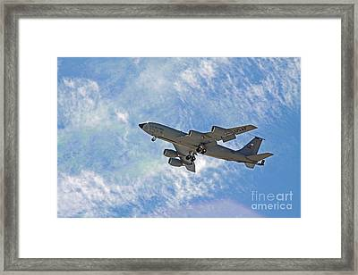 Kc-135 With Clouds Framed Print by Kenny Bosak