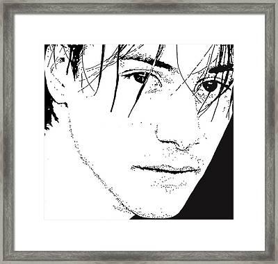 Keanu Reeves 2 Framed Print by Lori Jackson