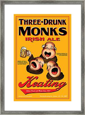 Keating Three Drunk Monks Framed Print by John OBrien