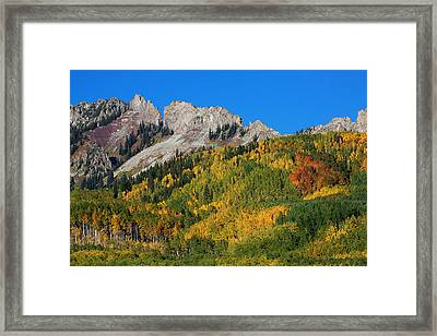 Framed Print featuring the photograph Kebler Pass by Jim Garrison