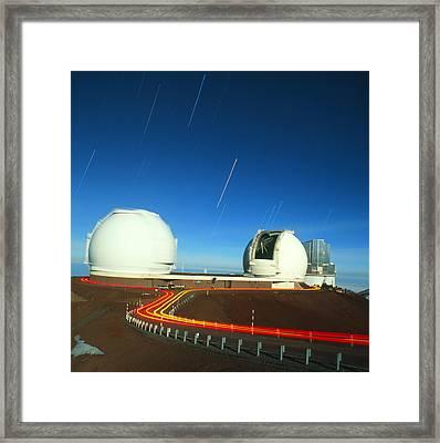 Keck I And II Observatories On Mauna Kea, Hawaii Framed Print by David Nunuk