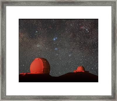 Keck & Irtf Telescopes Framed Print by Magrath Photographynielsen