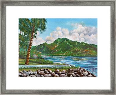 Keehi Lagoon Framed Print