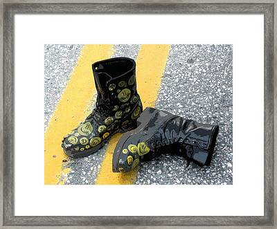 Keep On Smilin' Framed Print by K Walker