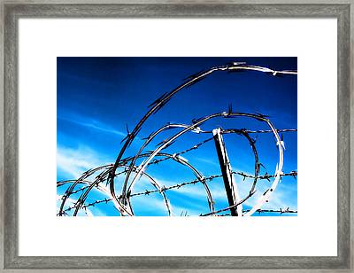 Keep Out Framed Print by Wendy White