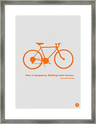 Keep The Wheels Turning 2 Framed Print by Naxart Studio