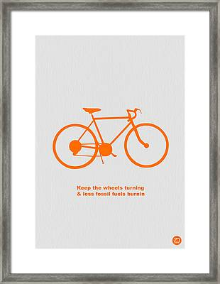 Keep The Wheels Turning Framed Print by Naxart Studio