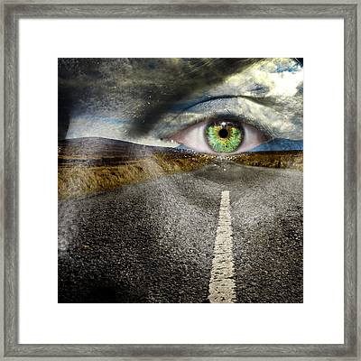 Keep Your Eyes On The Road Framed Print by Semmick Photo