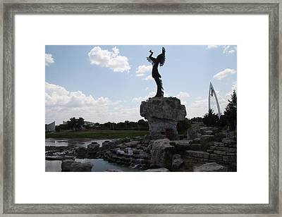 Keeper Of The Plains Fel Framed Print by Travianno