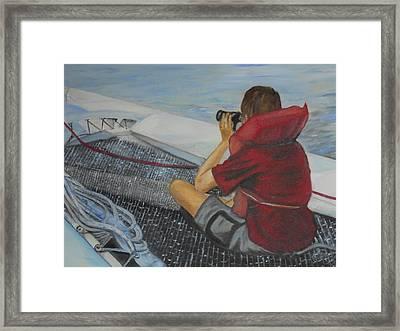 Keeping Watch Framed Print by Joyce Reid