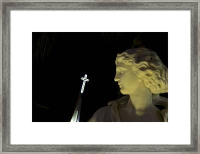 Keeping Watch Of The St. Armands Gods Framed Print by Nicholas Evans