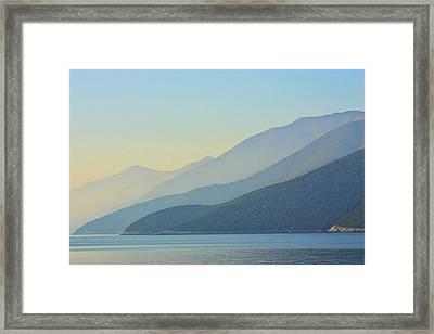 Kefalonia Dawn Framed Print