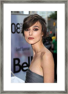 Keira Knightley At Arrivals For The Framed Print