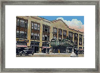Keith Albee Theatre In Flushing Queens N Y In 1934 Framed Print by Dwight Goss