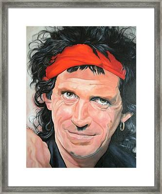 Keith Richards Framed Print by Timothe Winstead