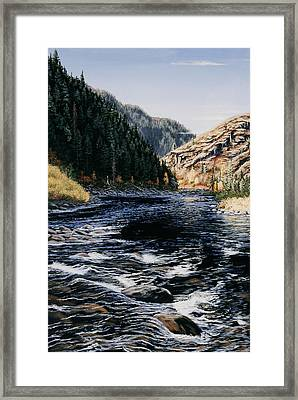 Kelly Creek Framed Print by Kurt Jacobson