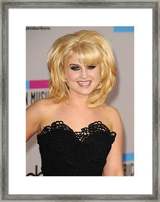Kelly Osbourne At Arrivals For The 37th Framed Print by Everett
