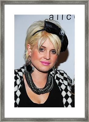 Kelly Osbourne In Attendance For Alice Framed Print by Everett