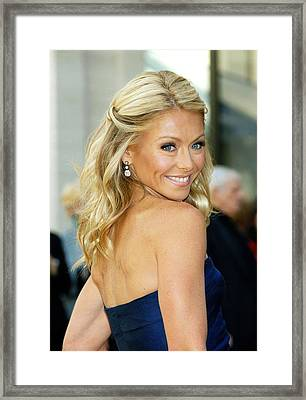 Kelly Ripa  At Arrivals For American Framed Print by Everett