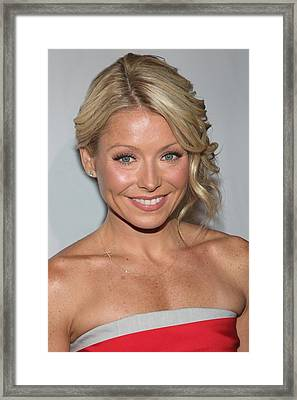 Kelly Ripa At Arrivals For The Point Framed Print by Everett