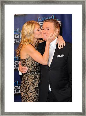 Kelly Ripa, Regis Philbin, Pose Framed Print by Everett