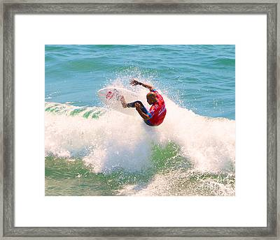 Kelly Slater Us Open Of Surfing 2012     8 Framed Print by Jason Waugh