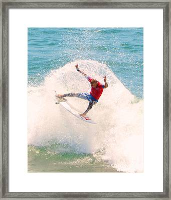 Kelly Slater Us Open Of Surfing 2012   2 Framed Print