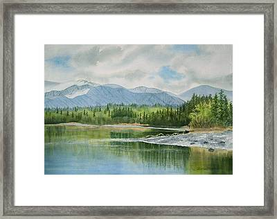 Kenai Lake Early Morning Spring Framed Print