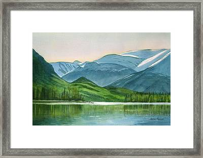 Kenai Lake Reflections Framed Print