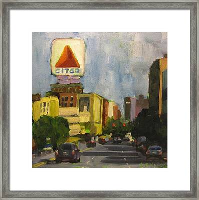Kenmore Square Framed Print by Laurie G Miller