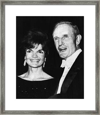 Kennedy Family. First Lady Jacqueline Framed Print by Everett